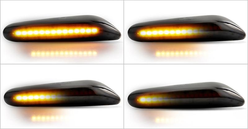 2x Error Free Dynamic LED Side Marker signal Light For BMW E90 E60 E82 E87 E88