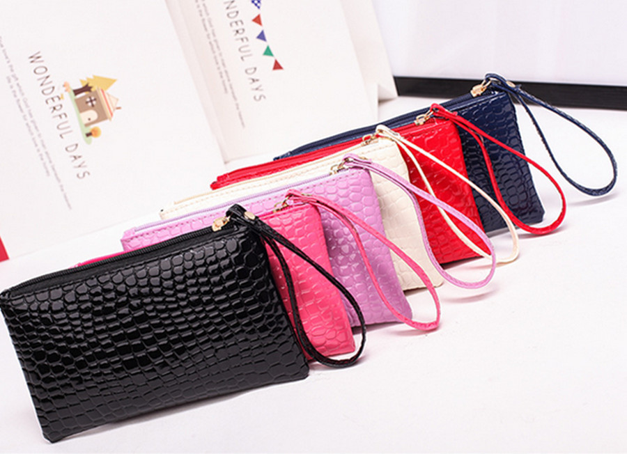 Ladies Crocodile Wallet Leather Wallet Money Wallet Female Clutch Clutch Crocodile Purse Clutch Lady Long Bag