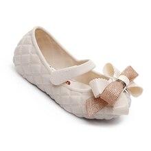 Kids Sandals Jelly Melissa Shoes Non-Slip Toddler Girl Children Original Bow Big New