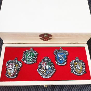 Harry Badge Slytherin Ravenclaw School Symbol Metal Badge Pin Brooch Chespin Costume Accessory Button Ornament Gift image