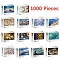 NEUE Puzzles 1000 Stück Montage Bilder Familie Spiel Heißer Spielzeug Pädagogisches Geschenk für Erwachsene Kinder Mit Box