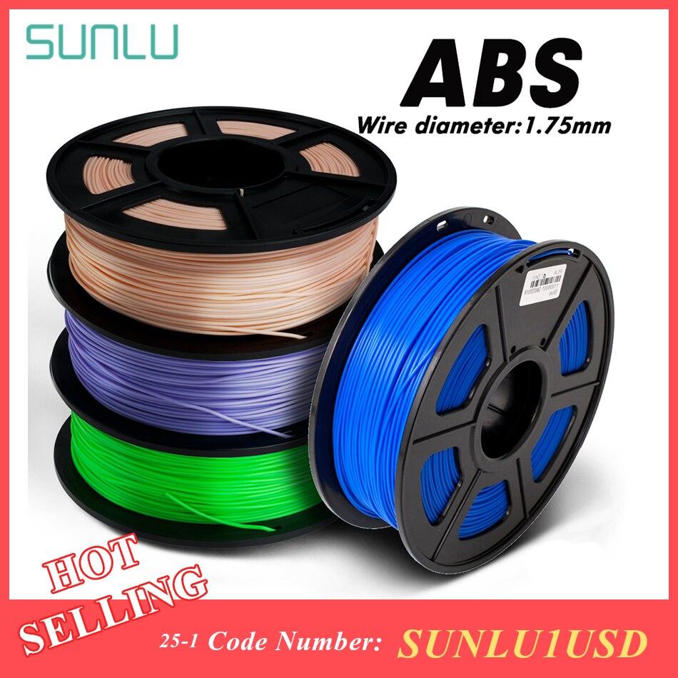 Impresora 3D colorido ABS 1,75mm 1kg 3D filamento con caja de embalaje 100% sin burbujas