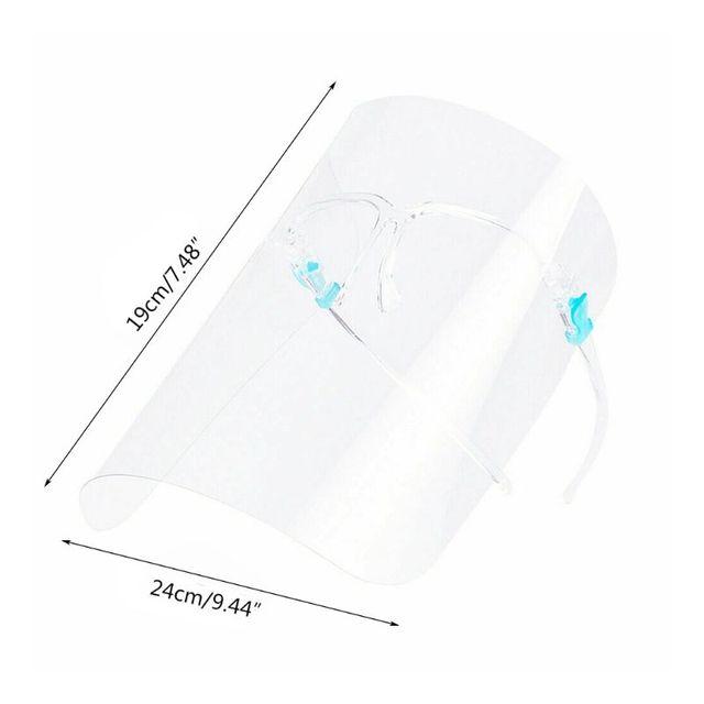 Full Face Transparent Anti-saliva Dust-proof Shield Flip Up Visor Oil Fume Protection Masks Visor Shield 2