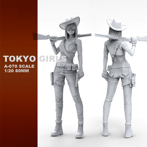 1/20 Resin Kits Tokyo Beauty Girl Soldier Series Resin Soldier Self-assembled  A-070
