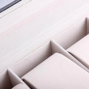 Image 5 - Caja de almacenamiento de reloj de cuero PU de 6 rejillas, gran oferta, soporte de reloj de pulsera rectangular, estuche de exposición de joyería para regalos LL @ 17