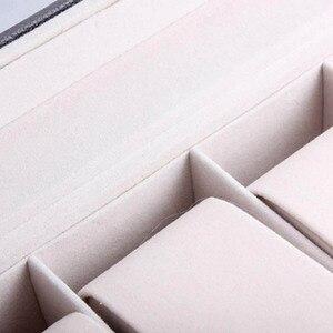 Image 5 - Offre spéciale 6 grille en cuir PU montre boîte de rangement Rectangle montre bracelet support vitrine de bijoux pour cadeaux LL @ 17