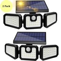 Lampada da parete per esterno a parete solare 122 LED sensore di movimento 270 illuminazione grandangolare lampada da parete con telecomando impermeabile Super luminosa