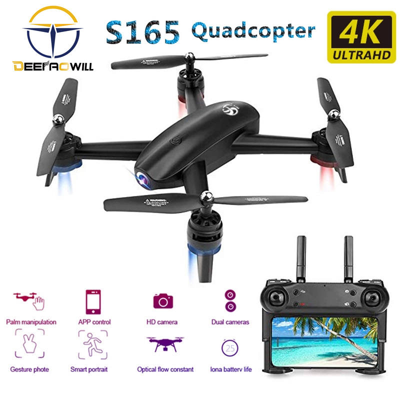 2020 NEW S165 Rc Drone 4k HD Camera 1080p Optical Flow PositioningDual Camera Dron Quadcopter 25 Minutes Long life Foldable toy