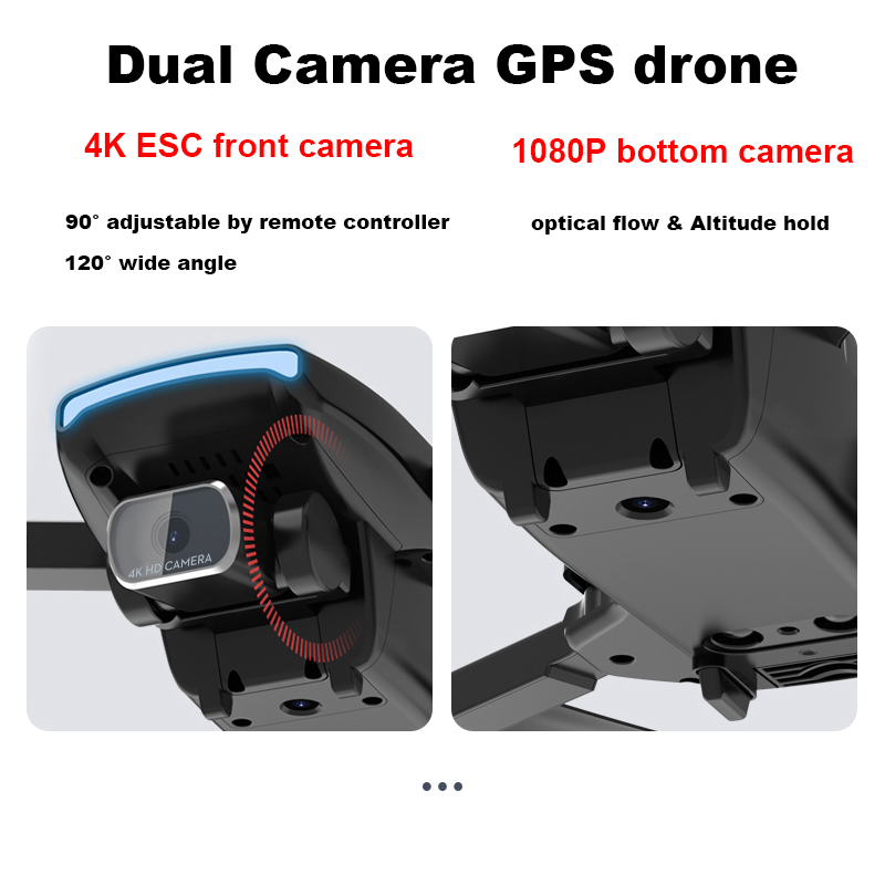 Vimillo S3 4K Profenssional Drone With Camera GPS 5G WiFi Dron Brushless 25mins Distance 1km Professional Rc Quadcopter PK EX5 5