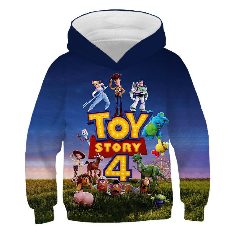 26 Style Fashion Toy Story 4 Anime Periphery Action Figure Hoodie 3D Print Sweatshirt Cool Man Game Hoodie Toys For Children
