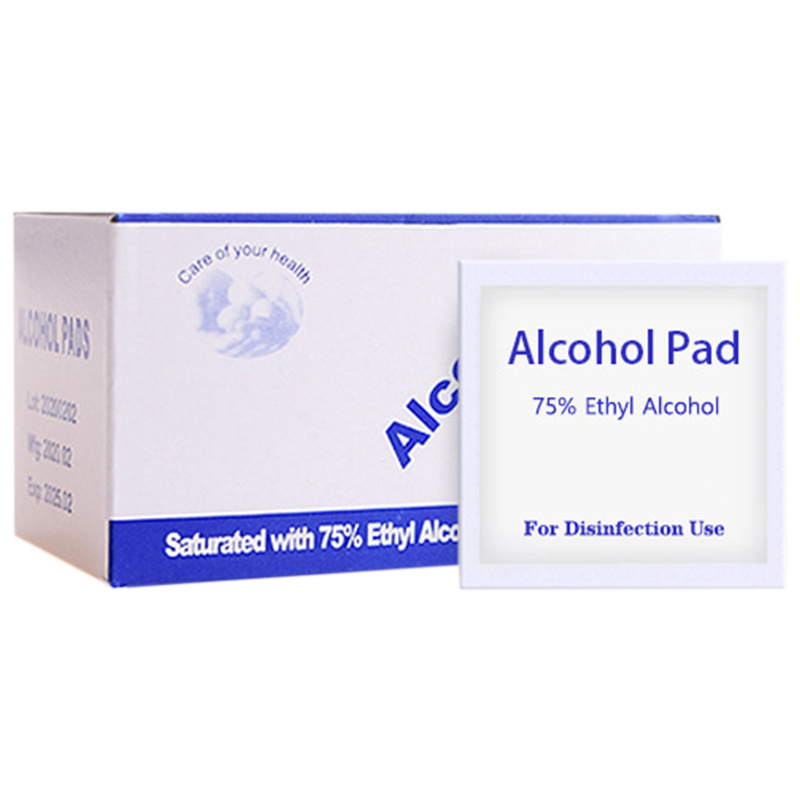 200 Pieces Disposable Alcohol Cotton Sheet Nail Cleaning Disinfection Bag Wipes Disinfection Wipes 6X6cm
