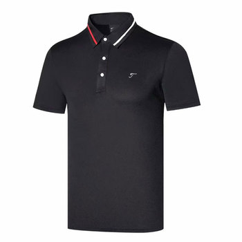 Nowy krótki rękaw T-shirt do golfa 4 kolory mężczyźni Golf odzież S-XXL w wyborze czas wolny sport koszulka golfowa tanie i dobre opinie HQBWill COTTON SILK Poliester Mikrofibra spandex Anty-pilling Anti-shrink Przeciwzmarszczkowy Oddychające Szybkie suche