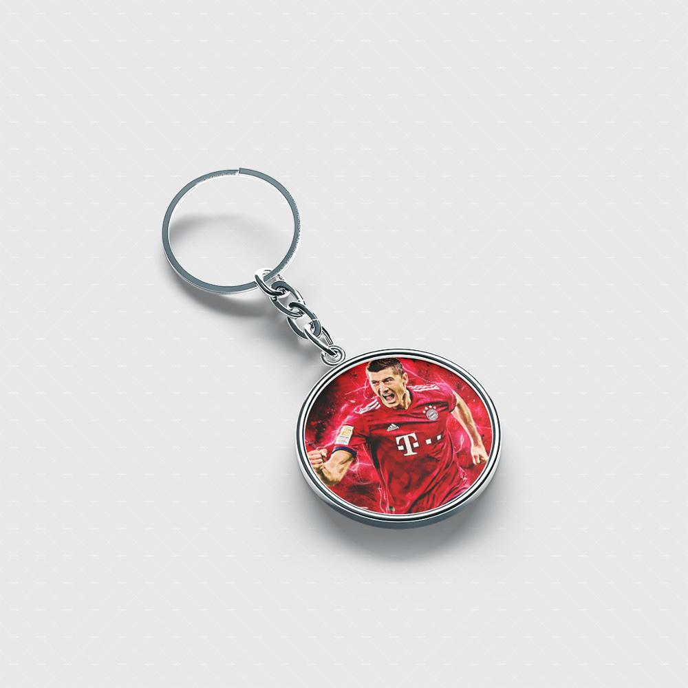 Robert Lewandowski Best personalized keychain Cute cool accessories custom keychains for men women kids image