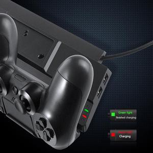Image 3 - אנכי קירור Stand תחנת טעינת Dock w/רכזת עבור PS4/PS4 Slim/PS4 פרו