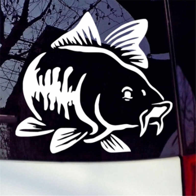 Hot Koop Karpervissen Auto Vinyl Decal Art Sticker Kayak Fishing Auto Vrachtwagen Boot Tribal Auto Sticker Accessoires