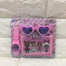 Genuino LOL surprise dolls 3in1 Original lols figuras de muñecas gafas de sol reloj billetera figuras de acción suministros diarios lol muñecas conjuntos
