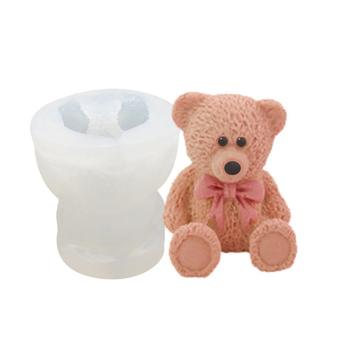 1pc 3D silikonowe zabawki Bowknot niedźwiedź formy ciasto kremówki foremki do czekoladek dekoracyjne foremki do ciast narzędzia pieczenie w kuchni pokładzie akcesoria tanie i dobre opinie CN (pochodzenie) CE UE Przybory do ciasta Ekologiczne SILICONE