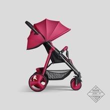 Baby stroller high landscape baby can sit reclining lightweight folding shock-absorbing four-wheeled stroller
