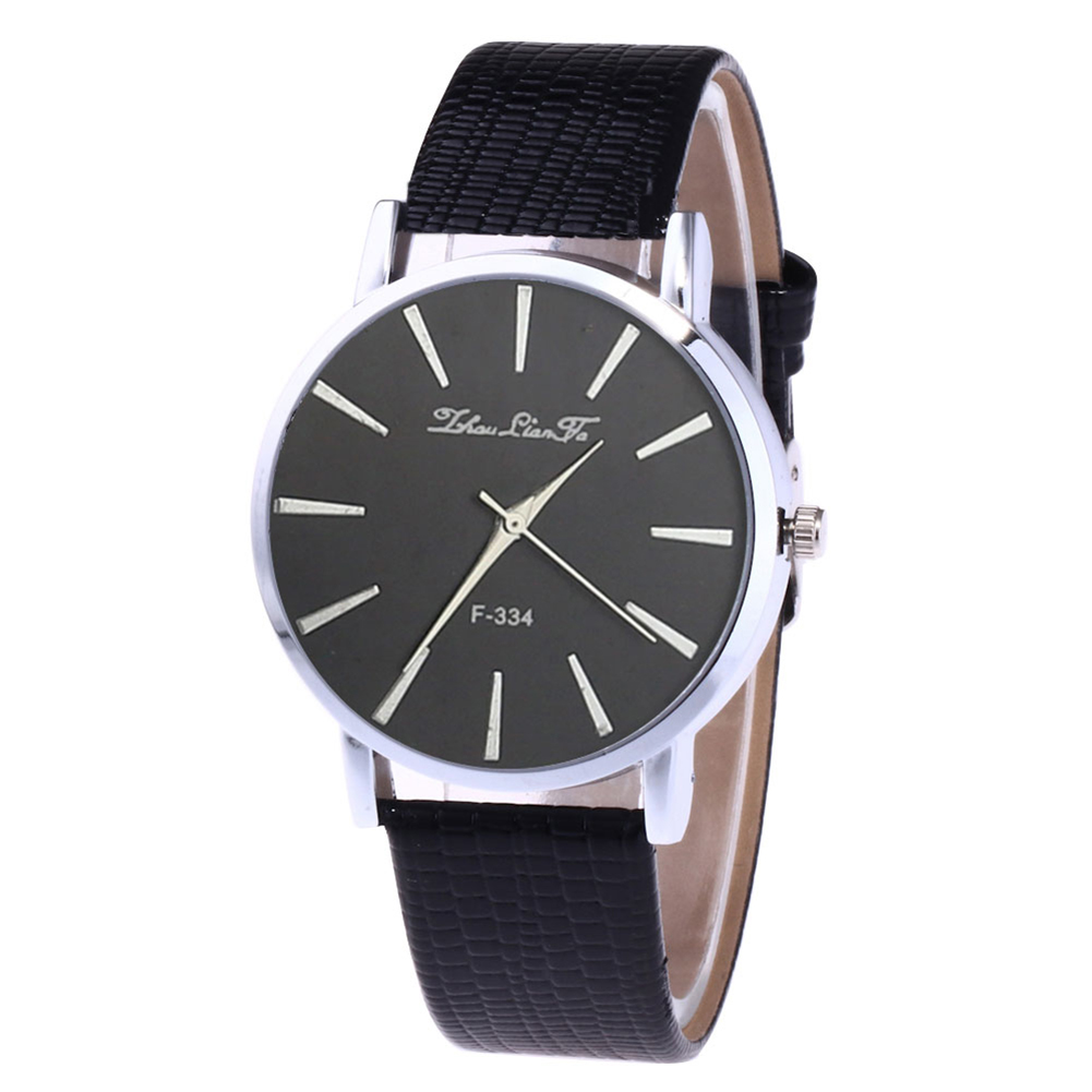 Elegant Men Business Watch Round Dial Quartz Watch With Faux Leather Band Couple Watches  LXH
