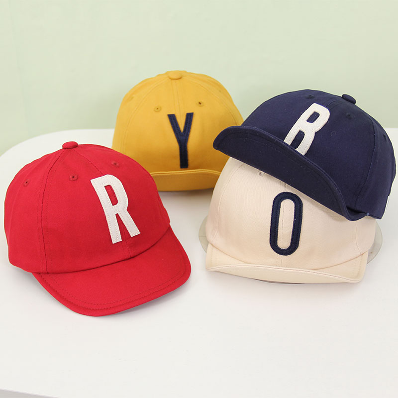Детская хлопковая кепка с буквенным принтом на весну и лето, регулируемая бейсболка для мальчиков и девочек, детская солнцезащитная Кепка в...