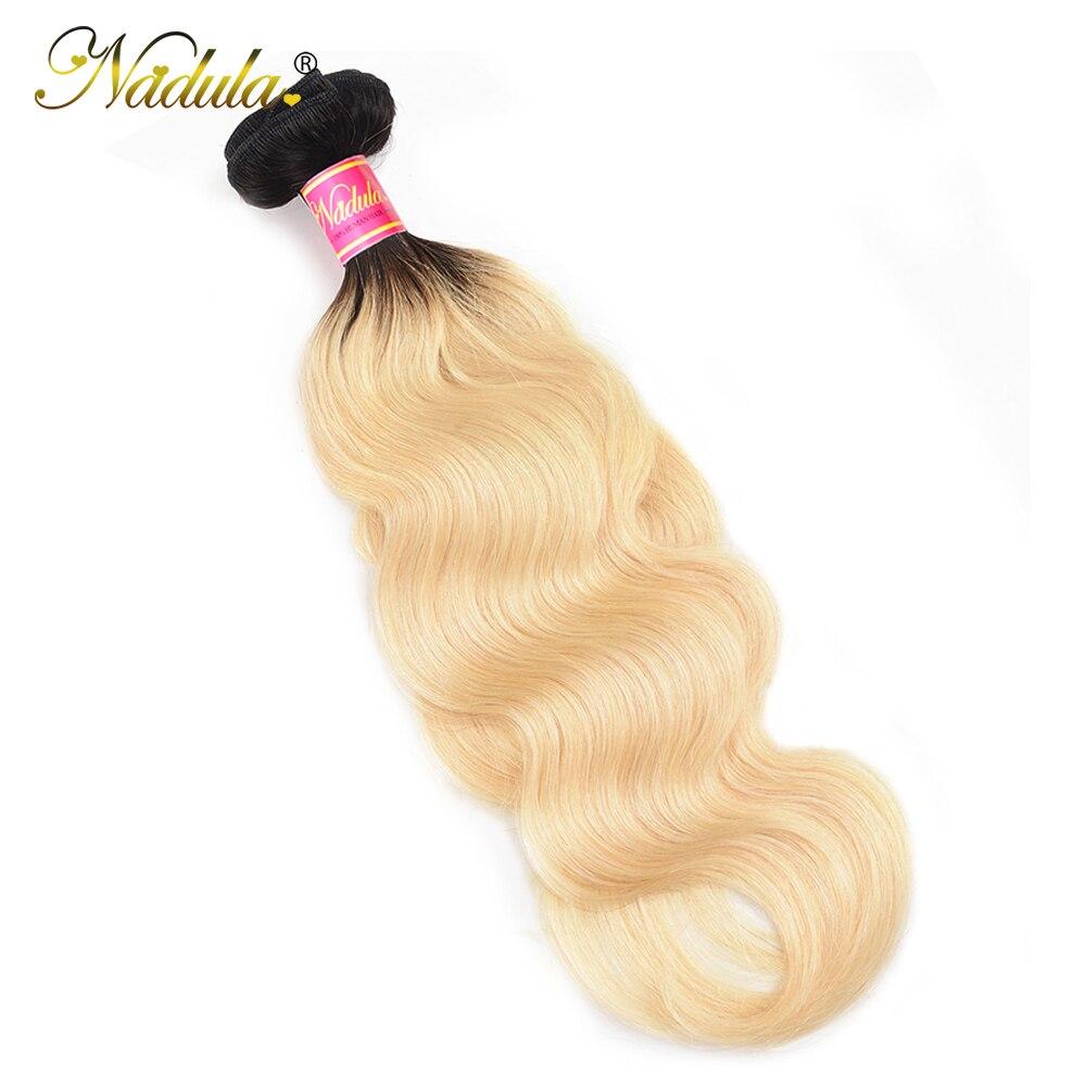 NADULA HAIR Ombre 1B/613  Body Wave Hair s 10-20inch  Bundles  Hair s  3