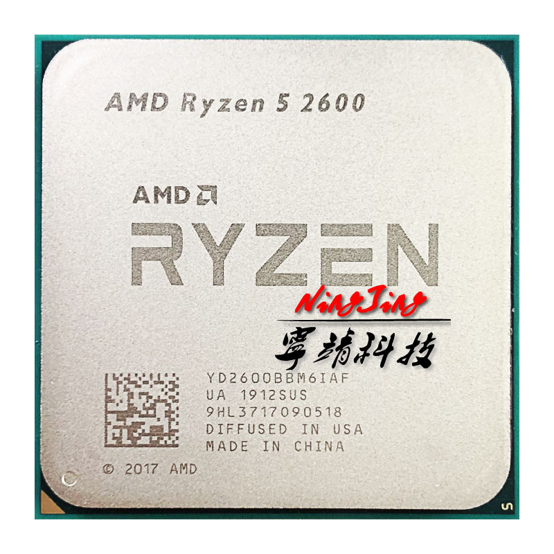 AMD CPU Processor R5 2600-3.4 AM4 Six-Core 65W Yd2600bbm6iaf-Socket Ghz