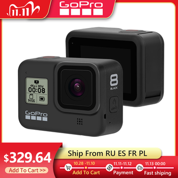 Original Gopro Hero 8 Black Waterproof Action Camera 4K Ultra HD Video 12MP Photos 1080p Live Streaming Go Pro Hero8 Sports Cam 1