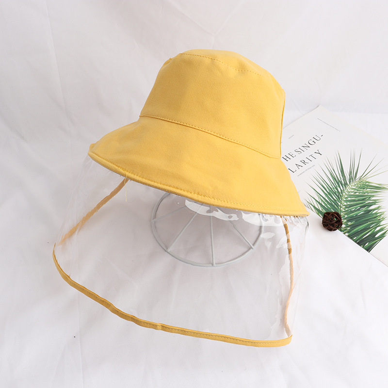 Unisex Kids Protective Cap Anti-virus Waterproof Anti-saliva Sunscreen Detachable Face Cover Cap Outdoor Fisherman Hat