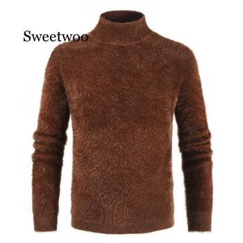 Men's Turtleneck Knitted Sweater Cashmere Wool Winter Sweater Men 2019 Turtleneck Pullover Man Swetry Pull Col Roul Homme turtleneck husky turtleneck