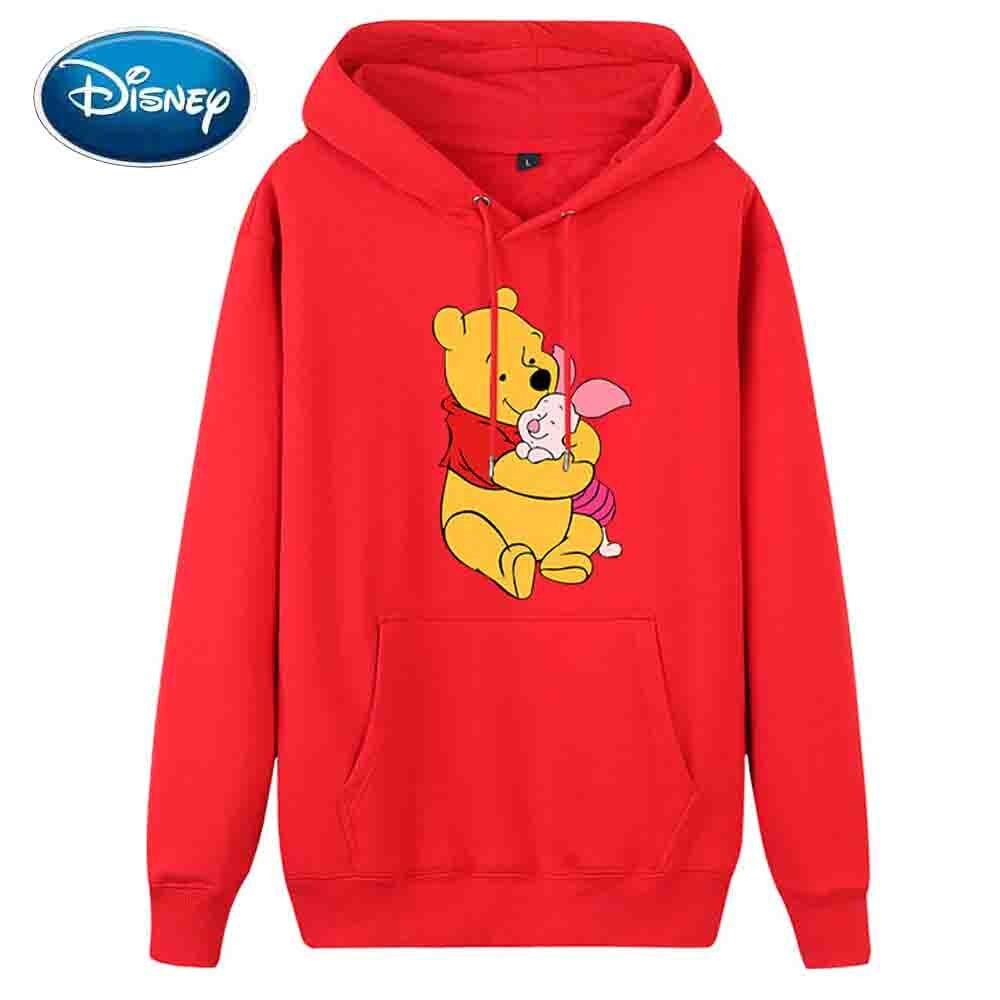 Disney Sweatshirt Winnie The Pooh Bear Pig Cartoon Print Hoodie Pullover Couples Unisex Sweatshirt Long Sleeve Pocket 8 Colors