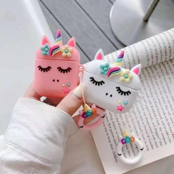 Cartoon Unicorn Case For AirPods Pro 2 1 Case 3D Cover For AirPods Pro Protective Earphone Charging Box Cover For AirPods 2 for airpods case 3d cartoon cute car style case for airpods 1 2 case silicone protective earphone cover for airpods pro case