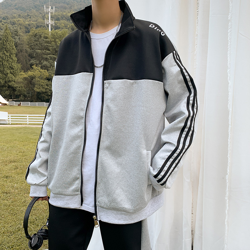 MEN'S Hoodie Autumn And Winter New Style Korean-style Trend INS Loose-Fit Hong Kong Style BOY'S Coat Leisure Sports Suit
