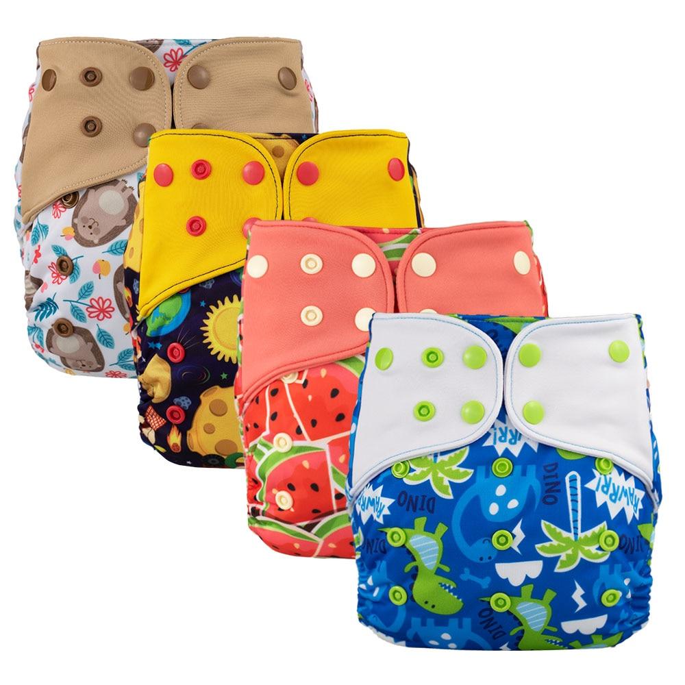 4 шт. Lichtbaby AIO одежды Новый карманный пеленки для малышей на возраст от 4 до 16 лет кг Один Размер Моющиеся Эко-дружественных пеленки вставки вс...