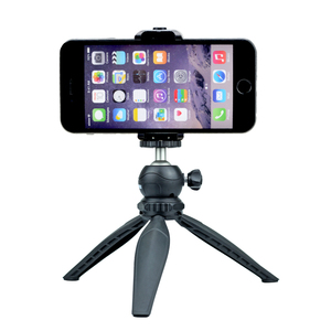 Image 4 - GAQOU Universal Tripod Mount Stand Adapter for Mobile Phone Holder Mini Cell Phone Clipper for iPhone Samsung Smartphone Bracket