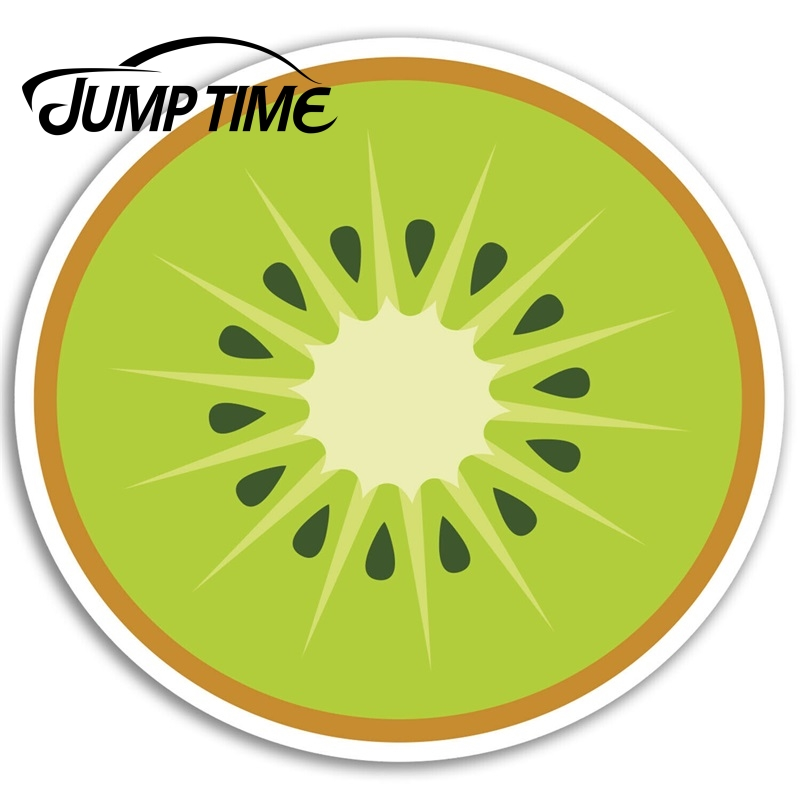 Jump Time for Kiwi Fruit Vinyl Stickers Healthy Diet Sticker Luggage Laptop Bumper Trunk Window Decal Car Accessories