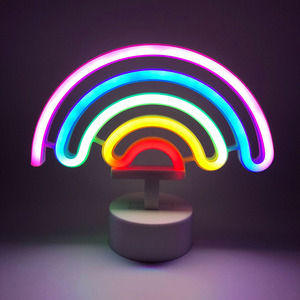LED Neon Modeling Lights Rainbow Decorative Lights Multi-functional Practical Convenient Home Festive Atmosphere Lamp