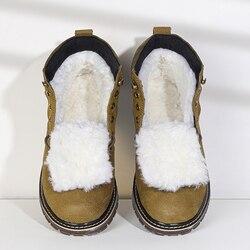 Botas de invierno de lana Natural para hombres, zapatos de invierno hechos a mano de piel de oveja, estilo ruso # YM8988