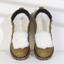 Natural Wool Winter Boots men Russian Style Full Grain Leather Sheep Fur Handmade Shoes #YM8988