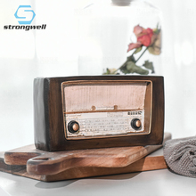 Strongwell Europe Style Radio Model Retro Home Decor Decoration Accessories Nostalgic Ornament Gift Antique Imitation