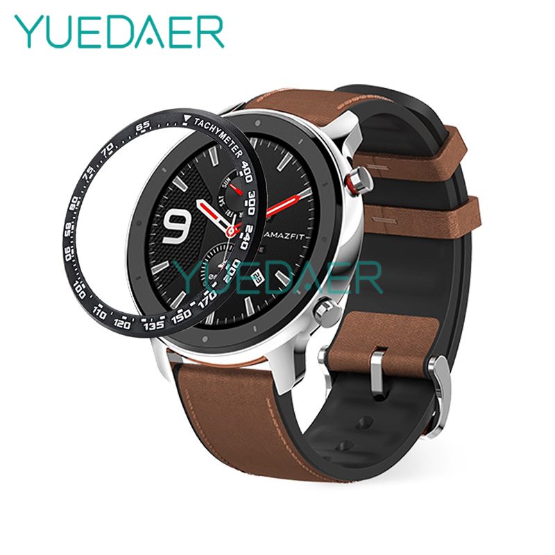 YUEDAER Metal Bezel Ring For Xiaomi Amazfit GTR 47MM Case Dial Scale Speed Cover For Amazfit GTR 47 Smart Watch Accessories