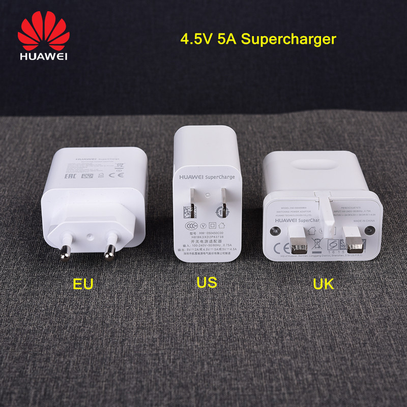 Original <font><b>Huawei</b></font> <font><b>Supercharge</b></font> charger Quick Adapter for <font><b>Huawei</b></font> P20 p10 pro plus mate 9 10 20 honor 10 note10 5A usb super Charger image