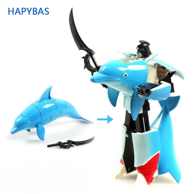 FUNNY TRASFORMAZIONE ROBOT Treno Modello Classic Toy Action Figure Bambini Regalo