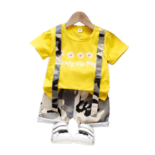 New Summer Fashion Baby Girl Clothes Children Boys Clothing Cotton T Shirt Shorts 2Pcs/set Toddler Casual Costume Kids Tracksuit цена 2017