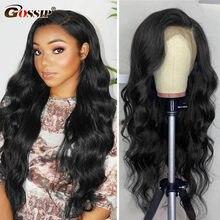 Perruque Lace Front Wig Remy naturelle Body Wave, cheveux humains, 13x4, pre-plucked, avec Baby Hair, sans colle, densité 250, pour femmes africaines