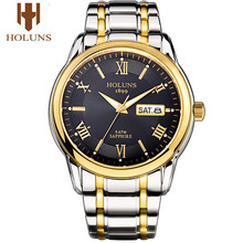HOLUNS relogio masculino full stainless steel men automatic watch