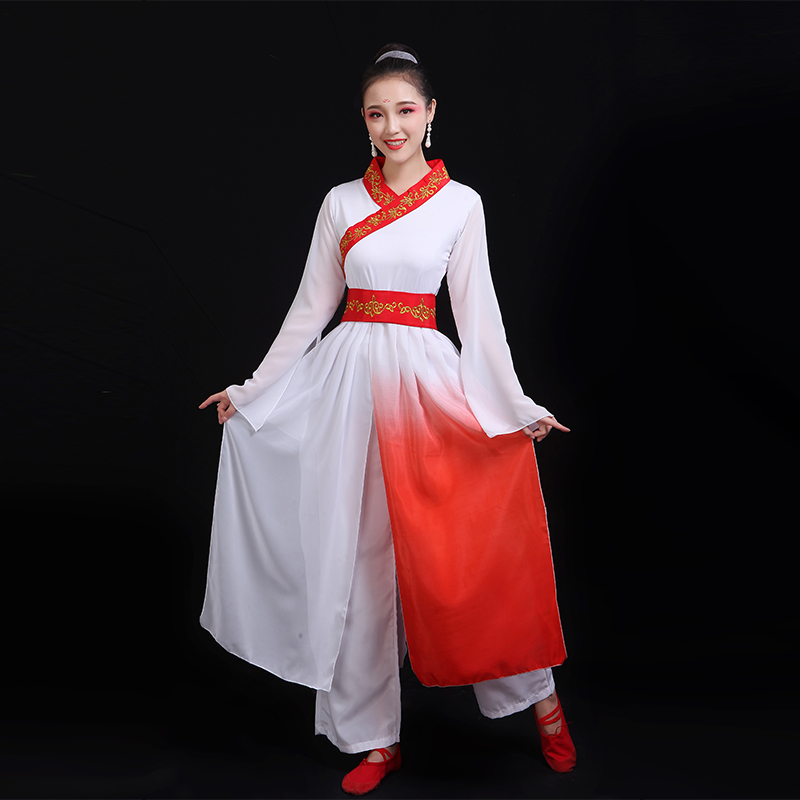 Hanfu Dress Chinese Folk Dance Traditional Chinese Dance Costumes Stage Costumes Ancient Chinese Costume