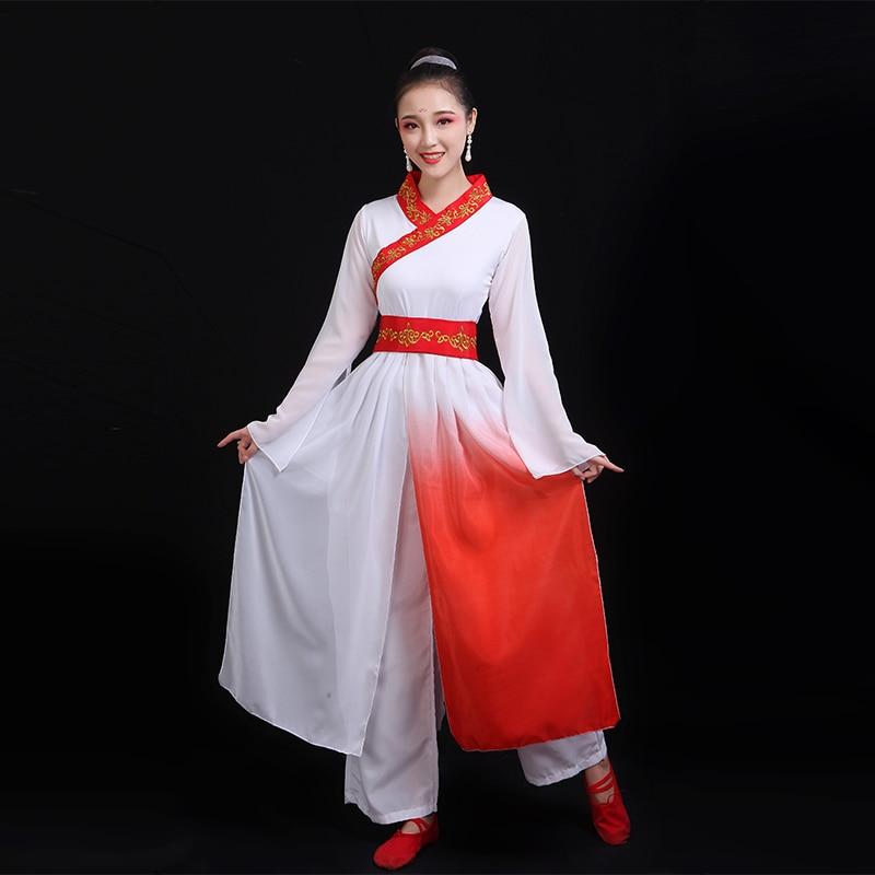 Hanfu Dress Chinese Folk Dance Traditional Chinese Dance Costumes Stage Costumes Ancient Chinese Costume