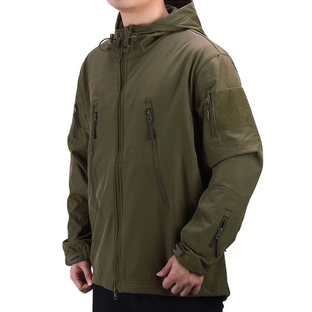 Outdoor Hiking Jackets Shark Skin Soft Shell V4 Military Tactical Jacket Men Windproof Coat Hunt Camouflage Army Clothing
