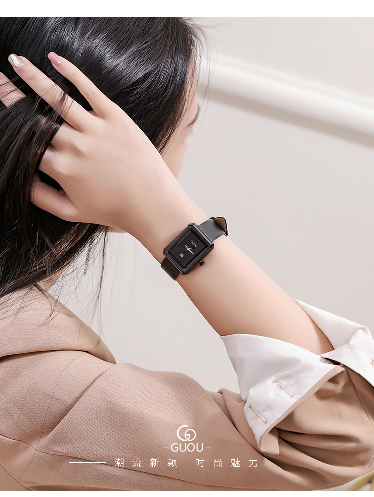 Da Moda Relógio de Pulso de Couro