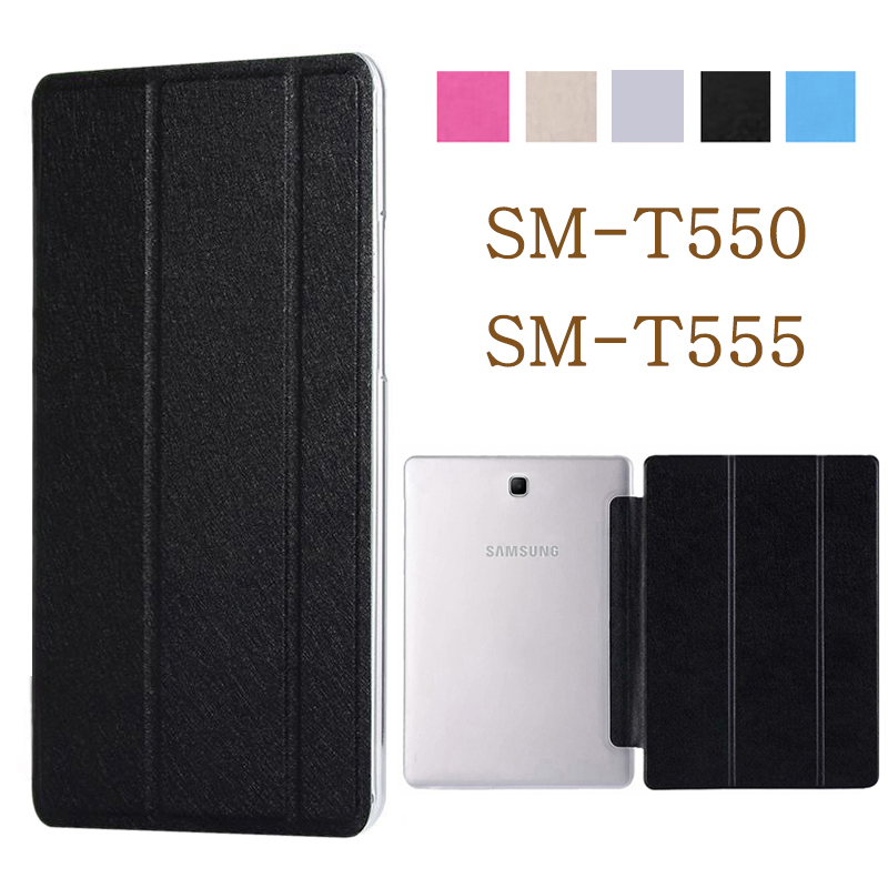 <font><b>Tablet</b></font> case for <font><b>funda</b></font> <font><b>Samsung</b></font> <font><b>Galaxy</b></font> <font><b>Tab</b></font> <font><b>A</b></font> 9.7 2015 case SM-<font><b>T550</b></font> SM-T555 <font><b>T550</b></font> leather flip cover stand case protective shell image